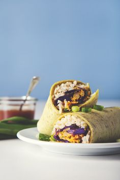 These easy vegan freezer burritos are better tasting and better for you. Make them in advance for convenient breakfasts, lunches or dinners during the week.