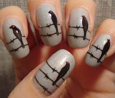 """The Birds"" Nail Art"