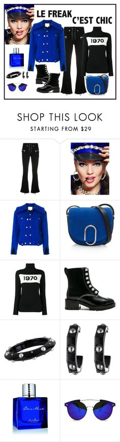 """3.1 Phillip Lim Electric Blue Shearling Collar Denim Jacket"" by romaboots-1 ❤ liked on Polyvore featuring Unravel, 3.1 Phillip Lim, Bella Freud, Miriam Salat, Alexis Bittar, Jack Black and Spitfire"