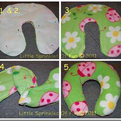 Little Sprinkles of Fun: Girlie Travel Pillow