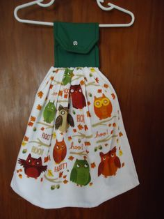 Fall Owl Kitchen Towel by Marshaslilcraftpatch on Etsy