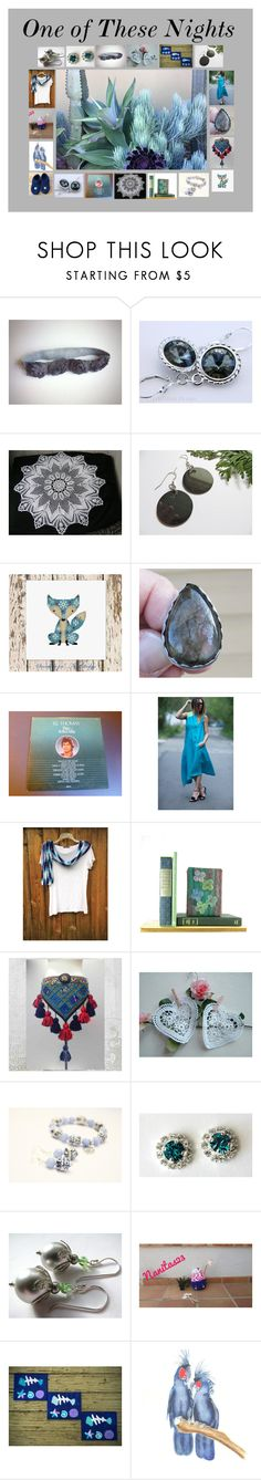 """""""One of These Nights: Handmade & Vintage Gift Ideas"""" by paulinemcewen ❤ liked on Polyvore featuring vintage"""