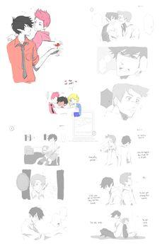 Random manga sketches - Marshall and Gumball by MiyajimaMizy.deviantart.com on @deviantART