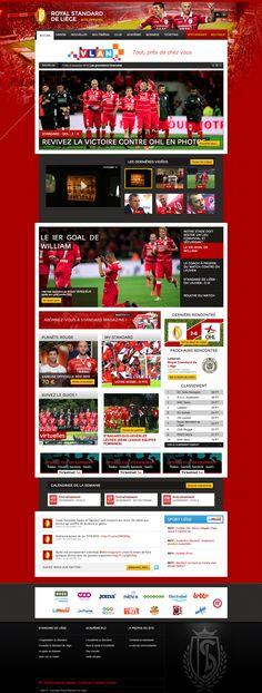 Royal Standard de Liege My Passion, Web Design, Sports, My Crush, Hs Sports, Sport, Website Designs, Exercise, Site Design