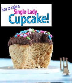 A customizable cupcake recipe that serves just ONE person. Instant portion control, and you can make all sorts of different flavors!