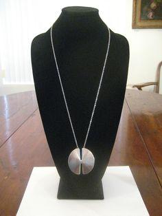 Sterling Pendant & Necklace, Nanna Ditzel for Georg Jensen.