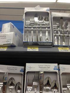 silverware set, walmart, $10