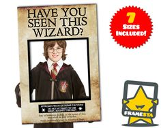 Have You Seen This Wizard Photo Booth Prop Instant by Framesta