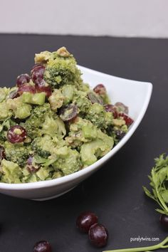 Quick and easy waldorf salad made with real ingredients like avocado and broccoli! A fresh twist on an old classic!