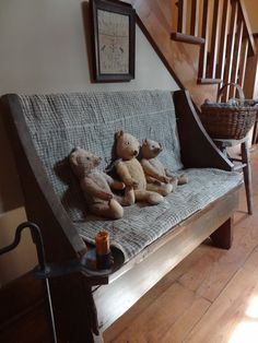 Bench with old Bears