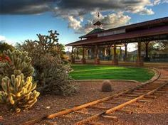 Daisy Mountain Railroad mini train, a part of a wonderful community park in Anthem, Arizona
