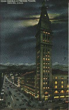 Daniels & Fisher Tower, Denver, Colorado - 1920s