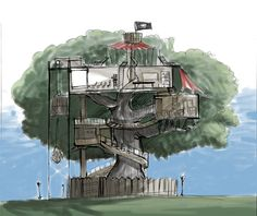 fantastic design simple treehouse - OnArchitectureSite.Com