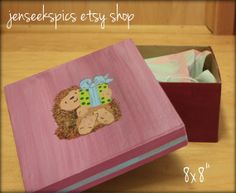 Whimsically Adorable Hand #Painted #Hedgehog or Dragon Gift Box