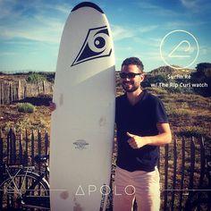 Surfin'Ré w/ the Rip Curl Surf watch. What else ? #everydayathlete #everydayathletes #ilederé #iledere #surf #surfer #surfing #surfinglife