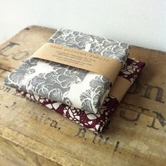 Hand screened fat quarters by Bookhou.