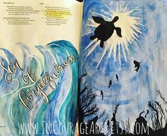 """""""He will again have compassion on us; he will tread our iniquities underfoot. You will cast all our sins into the depth of the sea."""" Micah 7:19  #bible  #bibleart#journalingbible #bibleartjournal #biblejournalingcommunity #biblestudy #biblejournaling #biblejournal #bibleverse #incouragearts http://ift.tt/1KAavV3"""