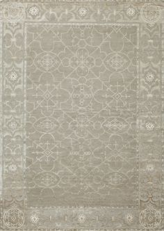 Castile, Frost - This collection combines traditional patterns with a modern day aesthetic to create perfect designs for a transitional style.  These classically refined and ethically crafted Tibetan rugs combine the unique style and unequaled craftsmanship that New Moon is best known for.