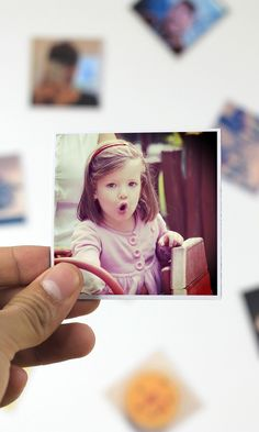 These cute magnets can be printed with photos from your Instagram