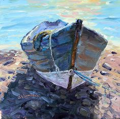 July 5, 2013 Painting of A Grand Manan Dory! Heatstroke or Food Poisoning Has Me Back Home! | Plein Aire in Maine