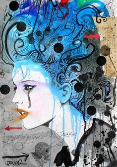 "Saatchi Online Artist Loui Jover; Mixed Media, ""salem"" #art"