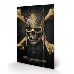 Panneau en Bois Pirates of the Caribbean Skull