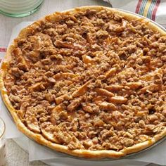 Apple Crisp Pizza- was better than apple crisp!  We loved it.  Will pre-cook crust 7 minutes first next time though.