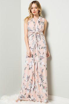 14953484d58 Courtney Front Knot Maxi Dress   Blush. GOZON Boutique