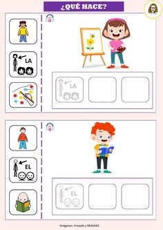 Elementary Spanish, Spanish Classroom, Language Activities, Activities For Kids, Sequencing Pictures, Education English, Speech And Language, Speech Therapy, Homeschool
