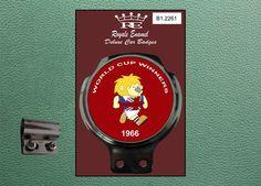 Royale Classic Car Badge & Bar Clip ENGLAND WORLD CUP WINNERS 1966 B1.2261