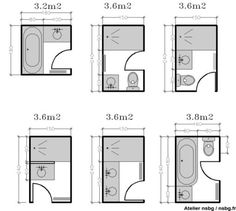 Amenagement petite salle de bain how to maximize height and Tiny Bathrooms, Tiny House Bathroom, Bathroom Toilets, Bathroom Renos, Laundry In Bathroom, Bathroom Flooring, Tiny House Shower, Bathroom Bath, Bath Shower