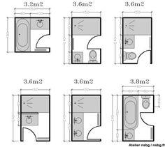 Les petites salles de bains (2 / 3 m²) | Studio d'archi