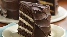 Looking for the ultimate chocolate cake? Indulge in a multilayered chocolate cake with homemade ganache.