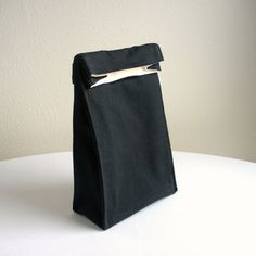 Insulated Lunch Bag  Eco Friendly Organic Cotton  by OrganiLuxe, $30.00