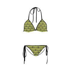 Cat Pattern Custom Bikini Swimsuit