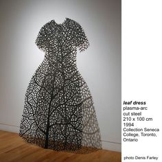 leaf dress made from steel by artist Barb Hunt