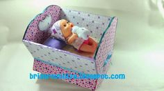 ecobrisa reciclaje: Cuna para muñecos con material reciclado