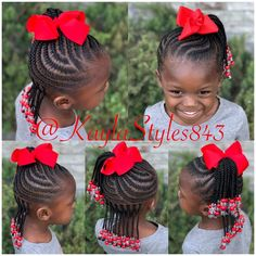 Majority of these hairstyles are fairly simple as well as are great for novices, quick and simple toddler hair-styles. Toddler Braided Hairstyles, Toddler Braids, Childrens Hairstyles, Lil Girl Hairstyles, Natural Hairstyles For Kids, African Braids Hairstyles, Braids For Kids, Toddler Hair, Natural Hair Styles