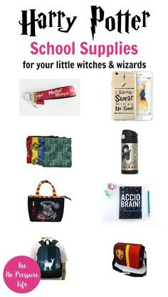 These Harry Potter school supplies are great for little witches and wizards going back to school, and great gifts for Harry Potter fans!