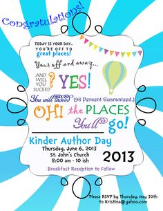 Oh the places you will go Printable by partyhardydesigns on Etsy
