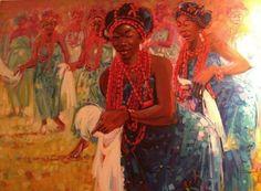 'Benin Dancers' by Damola Adepoju