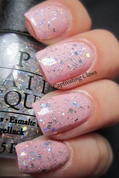 pink sparkle nails   Captivating Claws