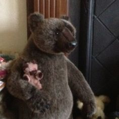 Non Faggoty Bear looks after Little Ted when he's not on his travels :-)
