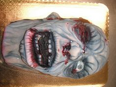 Zombie cake... Must have this for my birthday!!!!! o^o