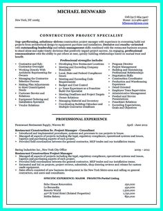 awesome cool construction project manager resume to get applied check more at http