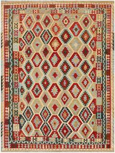 """KILIM HERAT 341x253. Alfombra Kilim Herat. Kilim Herat. Kilim anudado a mano con lana autóctona por las tribus """"turkemanas"""" en el norte de Afganistán. Los diseños utilizados son bellas estilizaciones de formas tradicionales como el """"boteh"""", octogonos, rombos engarzados... Kilims, Lana, Bohemian Rug, Carpet, Rugs, Home Decor, Kilim Rugs, Norte, Traditional"""