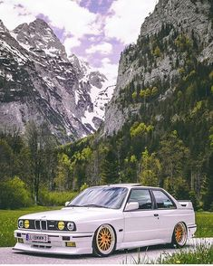 On the streets of Upper Austria. From the summer roads up to the icy mountains loving this On the streets of Upper Austria. From the summer roads up to the icy mountains loving this beautiful view! Bmw E30 M3, Bmw M3 Wallpaper, White Wallpaper, Bmw Sport, Custom Chevy Trucks, Custom Cars, Tuning Bmw, Bmw Autos, Bmw Classic Cars