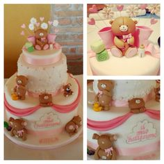 Christening cake for a sweet little girl