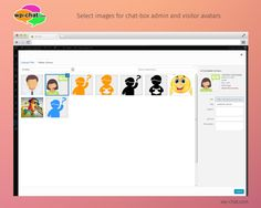 to display admin avatar and user avatar in chatbox check show