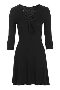 PETITE Lace Up Flippy Dress